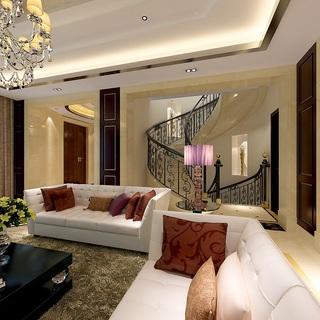 实创装饰-南桥正阳领郡别墅欧式风格别墅装修给你一个不一样的欧式家