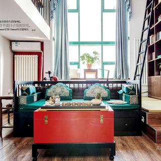 北京丽舍公寓 105㎡新中式混搭复式房 瑞丽家居刊登实景案例