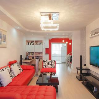 【实创装饰】上海156平现代简约红色激情复式宜居