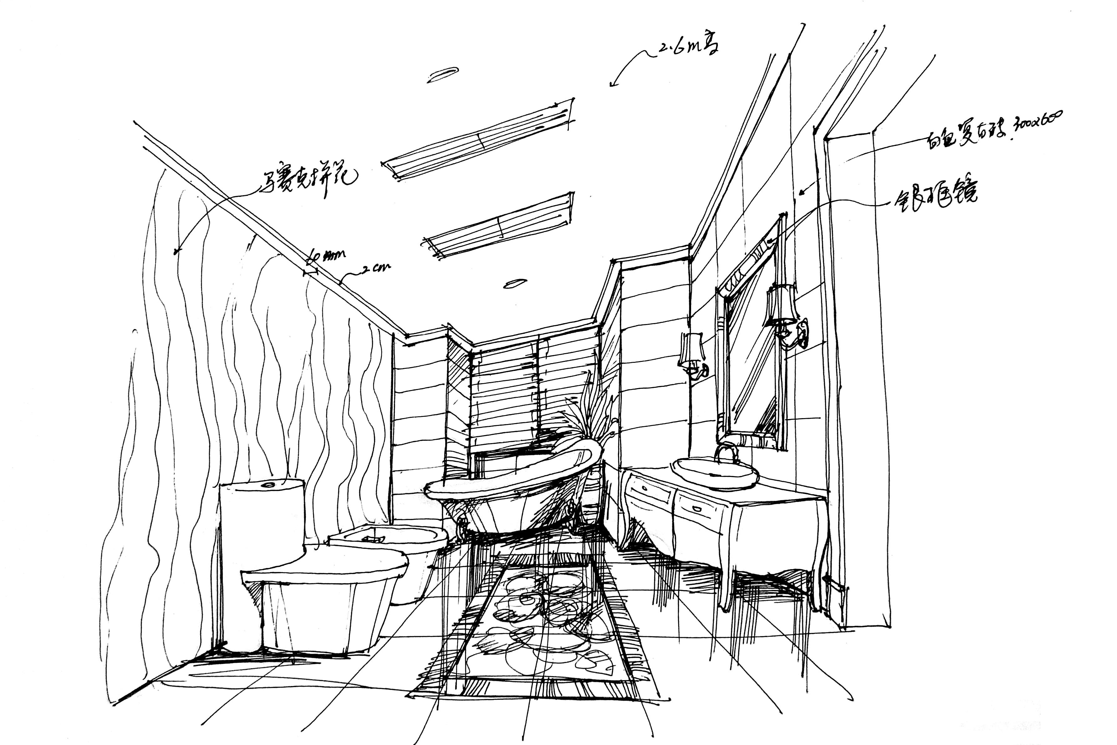 6万打造汤臣豪庭欧式风格装修手绘图-搜狐家居品格
