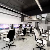 久栖出品----北京果林里class 240㎡办公空间---工业主义loft