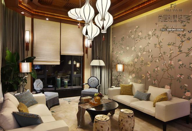尚层装饰重庆别墅装修合作案例 新中式风格 独栋别墅装修效果图