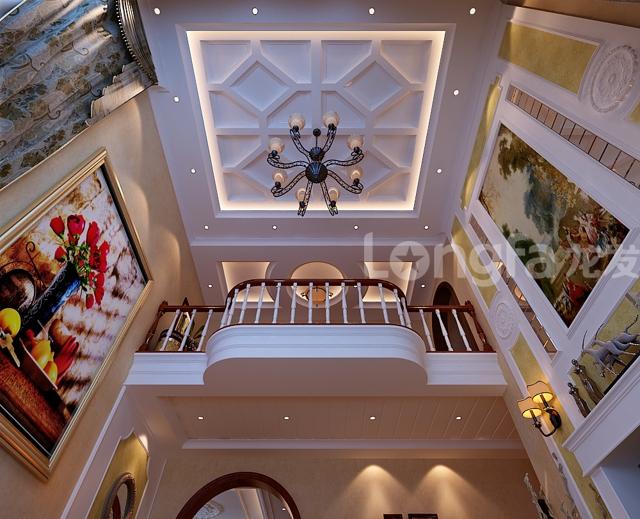 华丽家族d1户型298平欧式大宅风格装修设计效果图