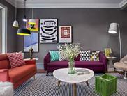 130平混搭风 个性张扬色彩公寓