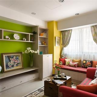 58㎡简约一居室室大变身!阳台成小资清新小花园