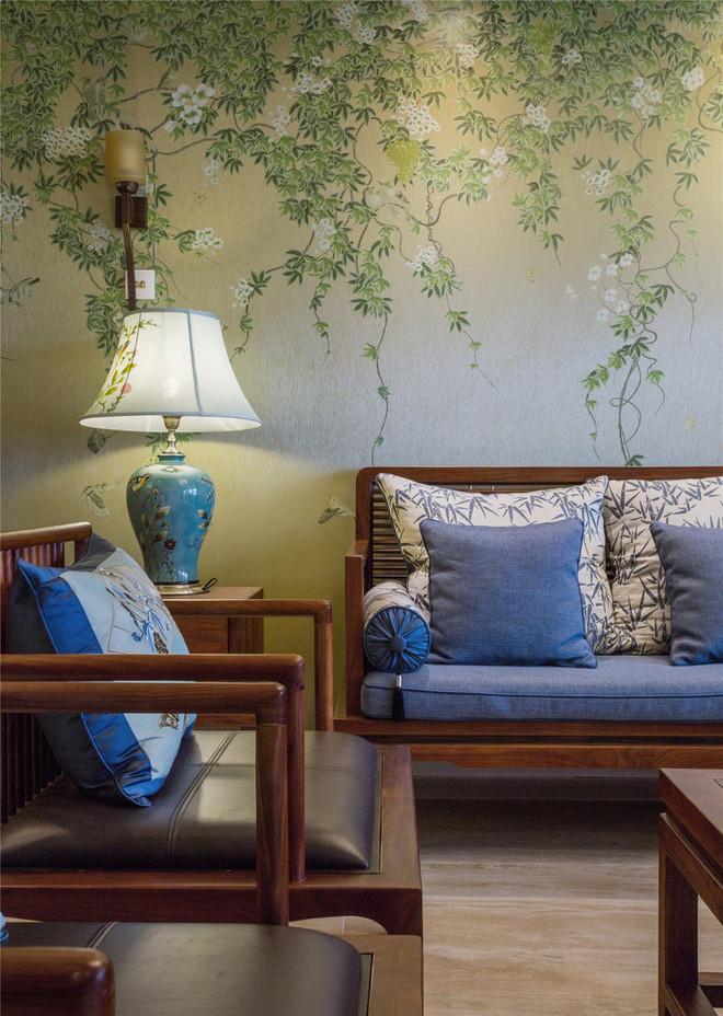 220平绿色藤蔓的中式风格案例赏析