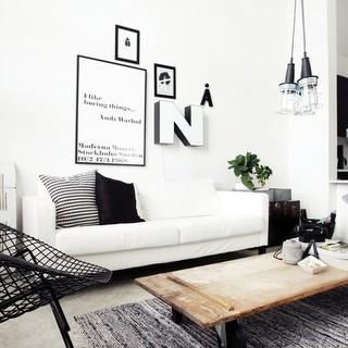 黑白精灵-北欧简约风格设计