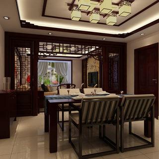 中式古典3居室,傲骨国人