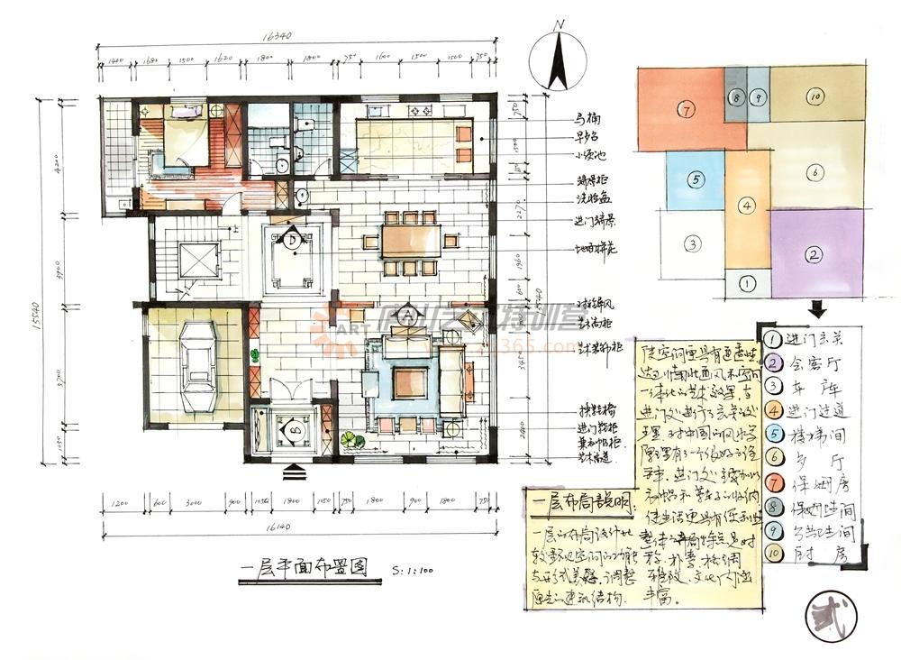 别墅手绘设计案例