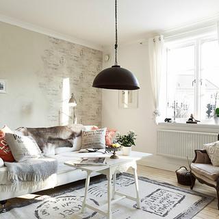 52平米灰色北欧女生公寓