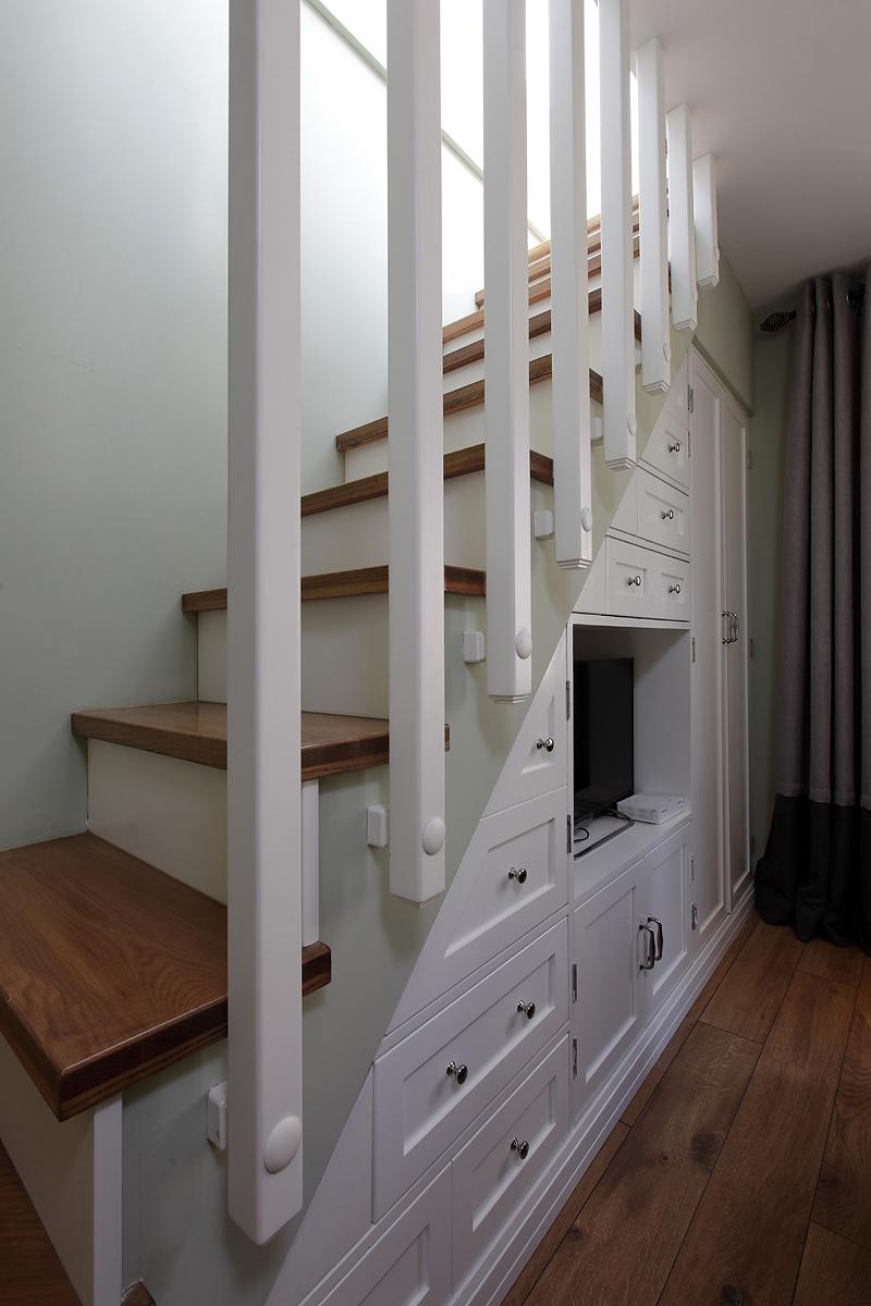 素影边境 美式复式住宅 储物式楼梯设计