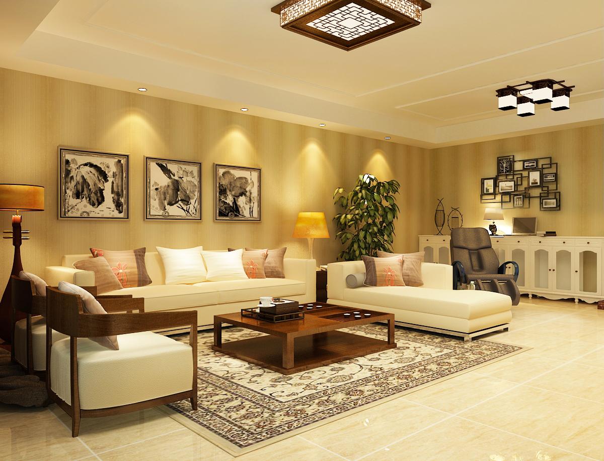 石家庄业之峰装饰-120平米三室两厅现代风格设计效果图