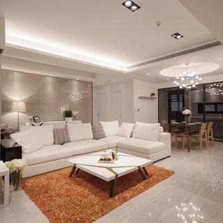时尚的留白设计 121平米简约风三居室