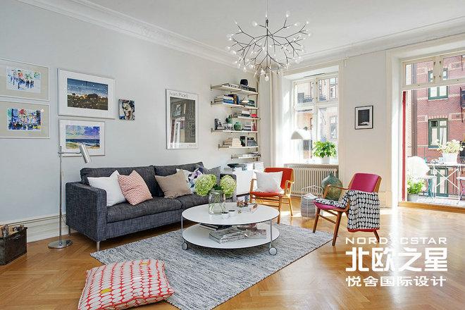 北欧简约风格 2016客厅电视背景墙装修案例赏析