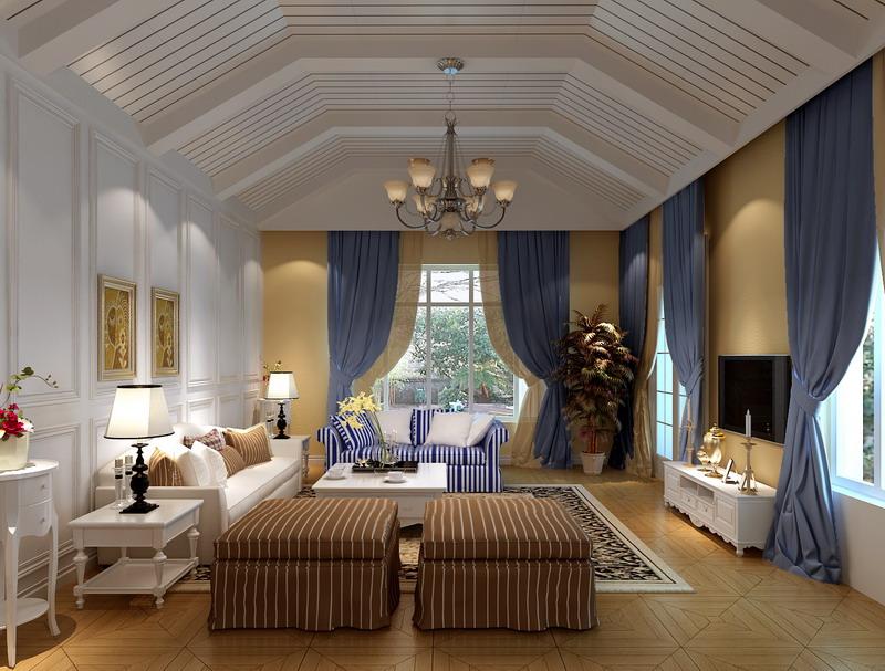 项目名称:兰湖美域 面积:171平 户型:四室三厅三卫 风格:简欧风格 总造价:51万 少了富丽堂皇的装饰和浓烈的色彩,呈现的则是一片清新,典雅和大气并存的轻松空间。肌理的电视背景墙,明亮素实的窗帘,和古典色彩的地毯相呼应的吊灯,加上造型简洁大方的沙发构成了一个典型的欧洲世界,送给心灵一次欧洲的游历。
