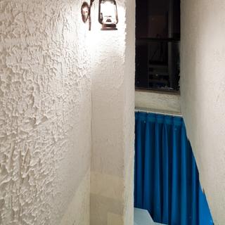 180平地中海蓝色风情,圣托里尼的城堡