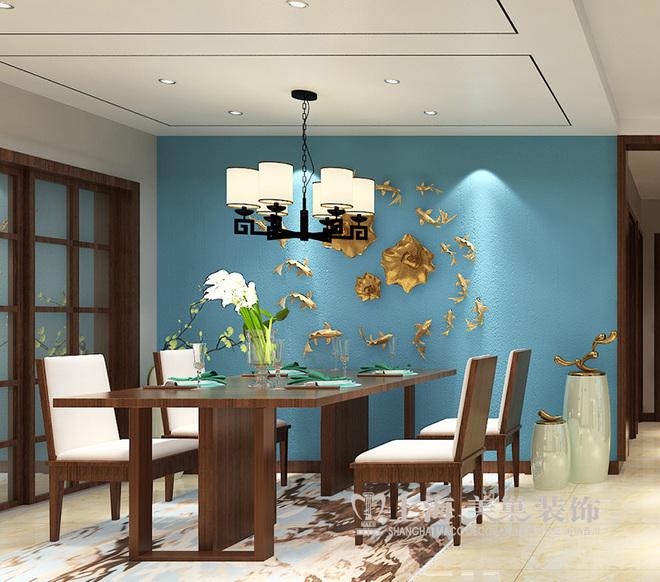 亚太花园120平古典韵味新中式装修三室两厅效果图