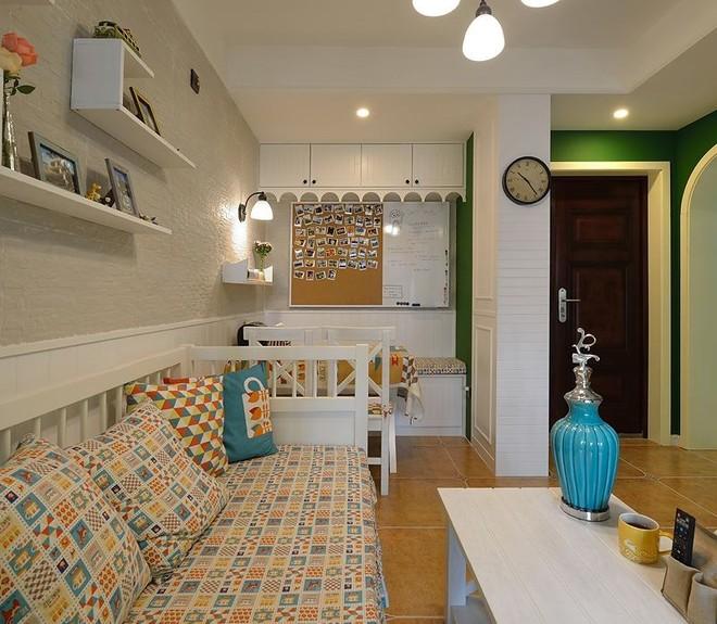 2016客厅电视背景墙装修 精装修公寓 现代美式