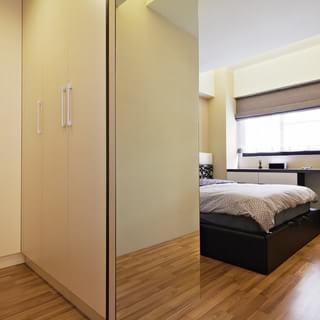 用木色洗涤居家的温暖 部悬浮调创造轻盈视感