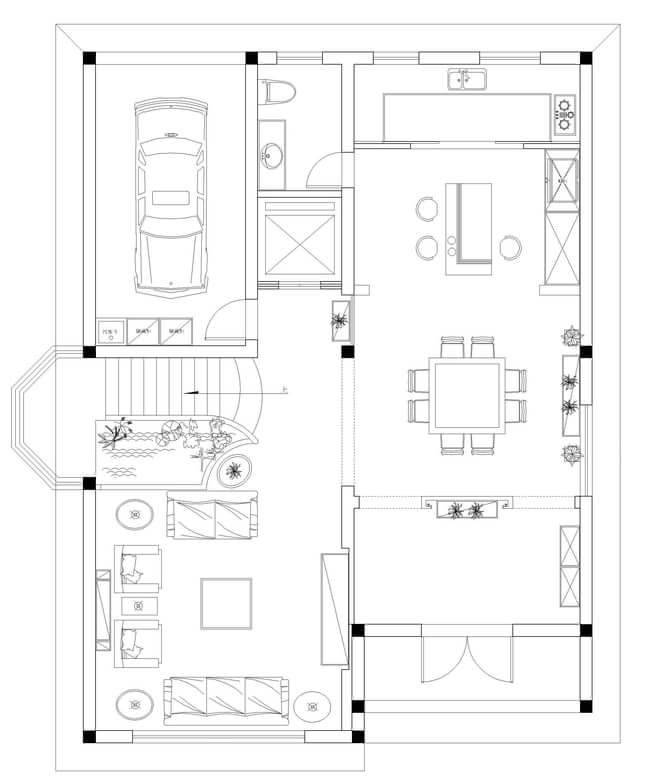 实创装饰-大气恢弘的中式风格别墅装修效果图-实创效果图