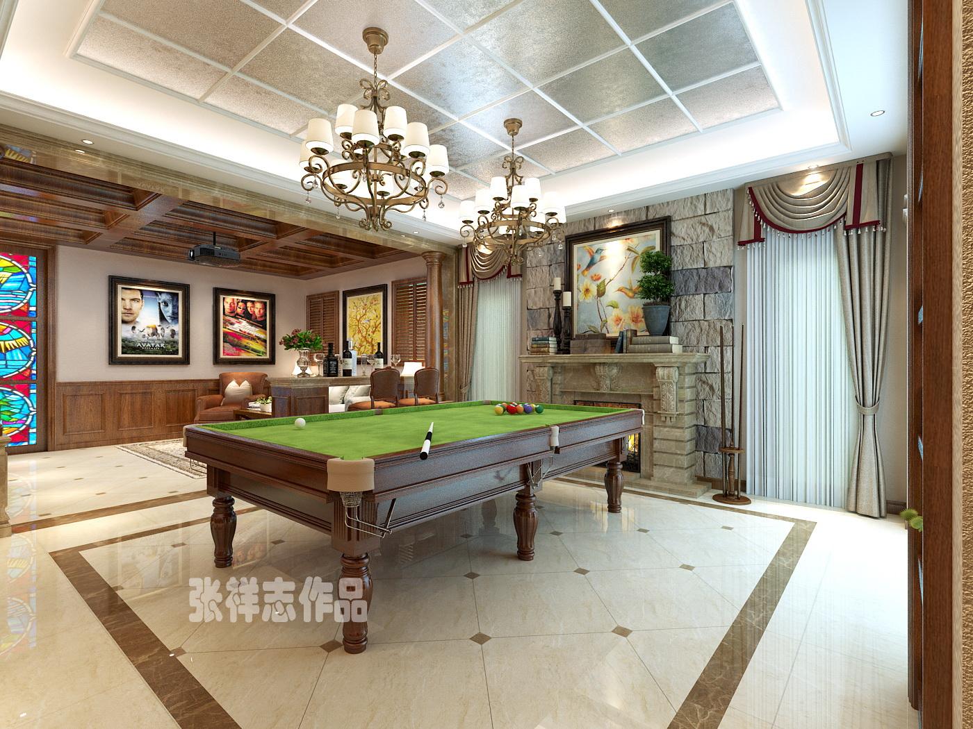 平【龙湖】大宅别墅美式装修风格装修设计,装修样板房|青岛实创装饰