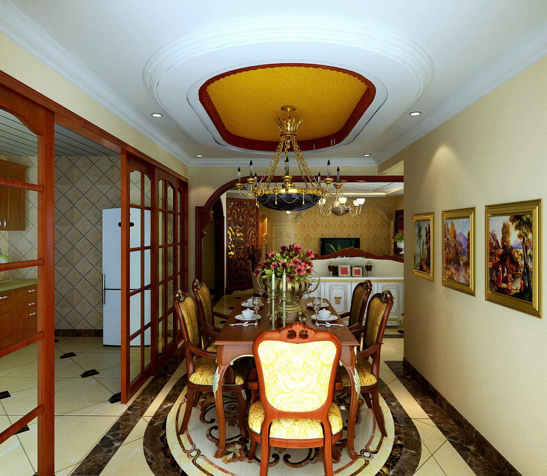 【上海实创装饰】保利御樽苑六居室292平米中式于欧式结合的美感