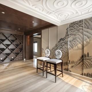 素色的勾边演绎高雅与大气 245平新古典时尚别墅