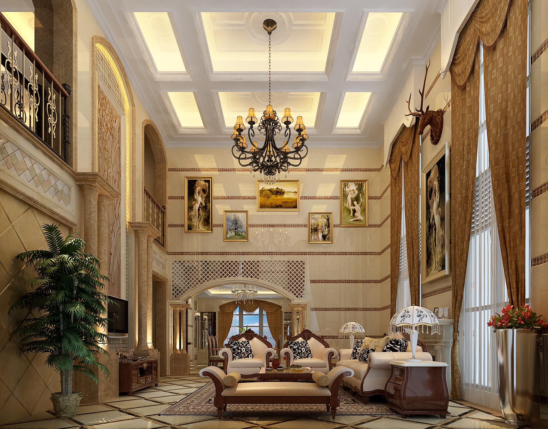 欧式别墅装修大气,奢华