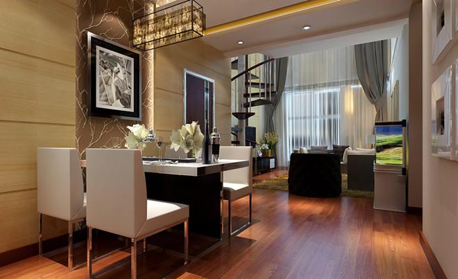 200平米复式楼别墅设计案例|现代简约风格|龙发装饰