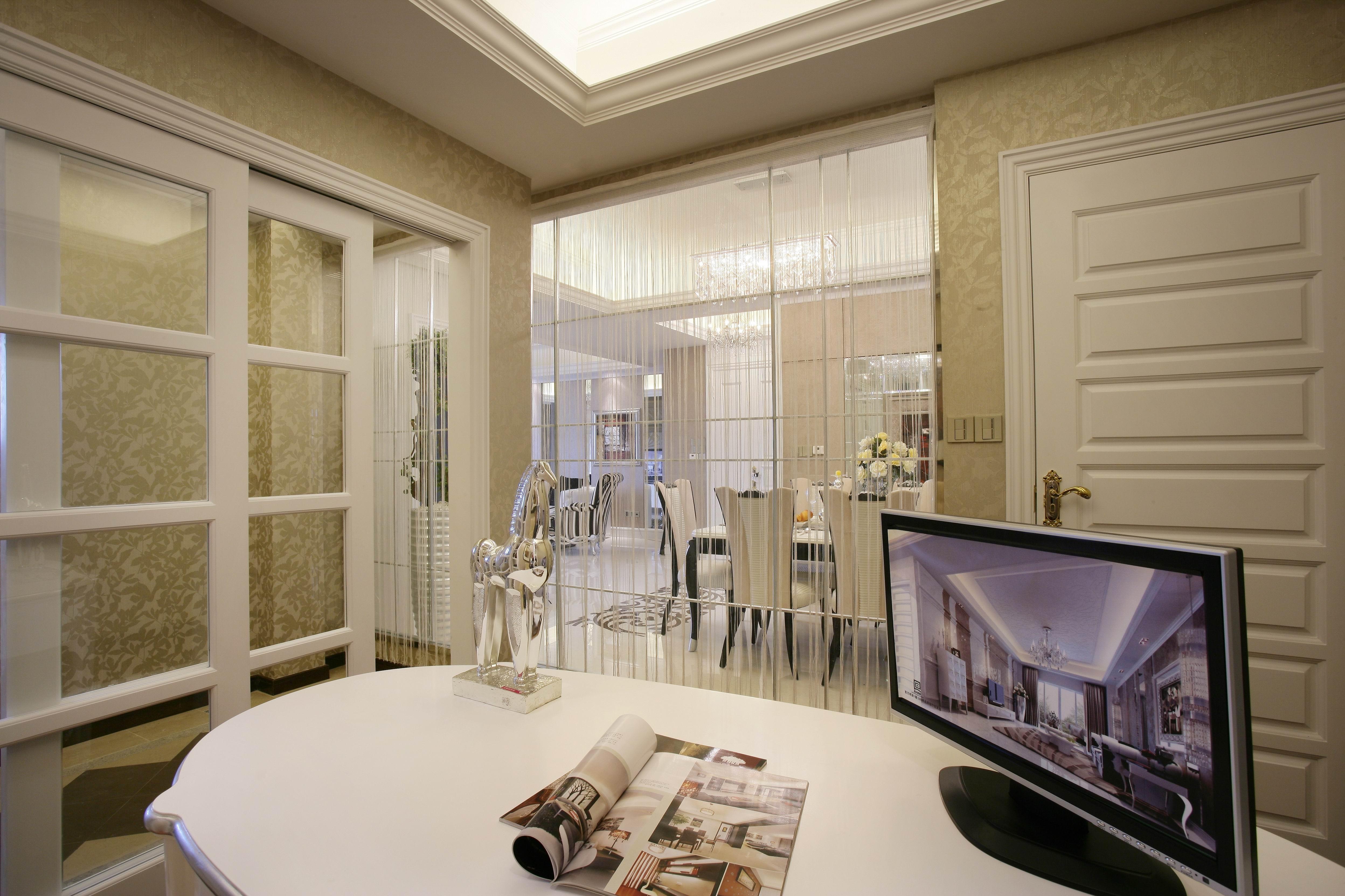 上海红缇半岛简欧风格装修案例赏析---尚层上海别墅