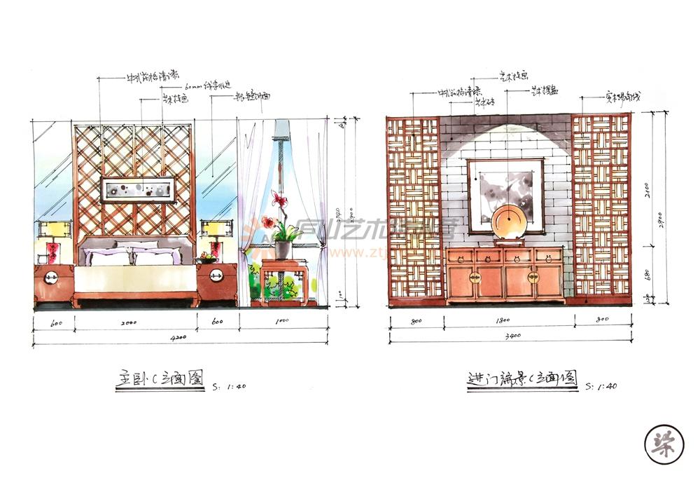別墅手繪設計案例