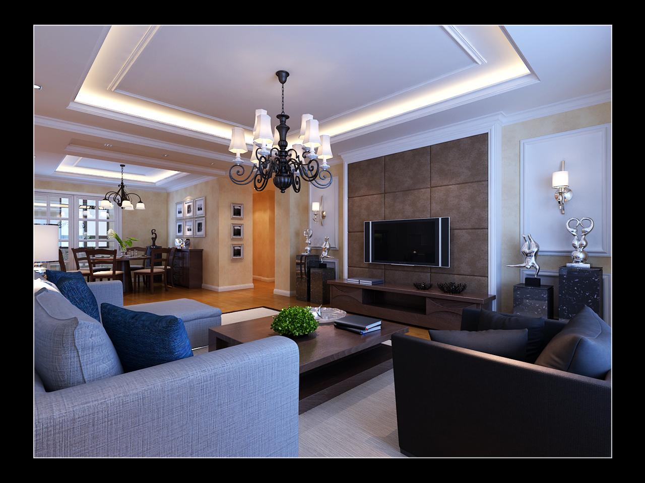 室内整套装修风格效果图