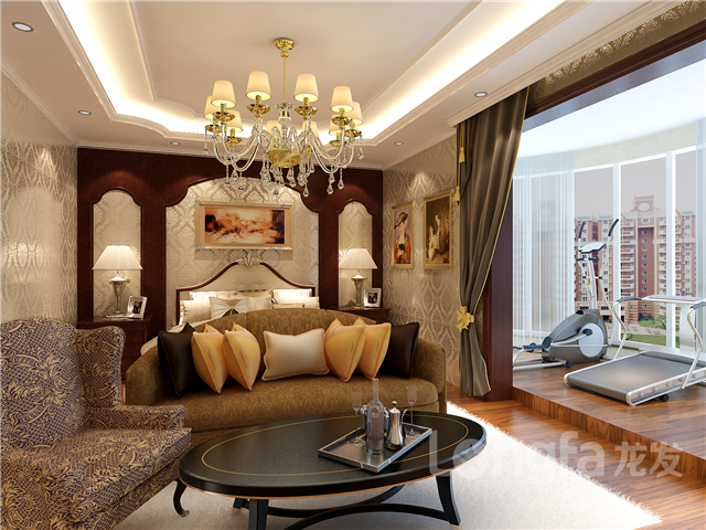 【北城国际装修】北城国际洋房b户型165平装修欧式古典风格设计效果图