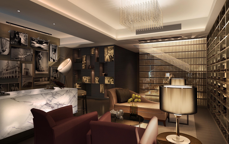 奢华装修效果图|120平米三室两厅装修效果图|高级黑白灰装修效果图