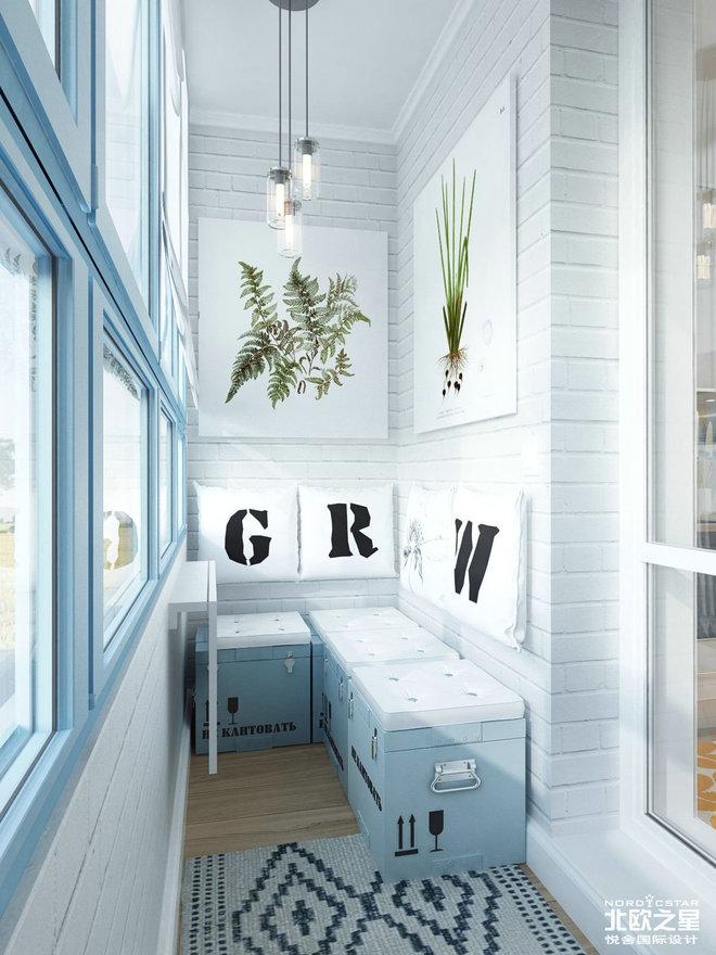 2016客厅电视背景墙装修 精装修公寓 北欧简约风格