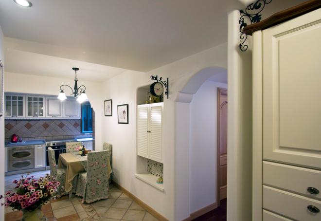 122平旧房改造装修,时尚温馨田园设计