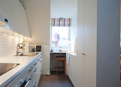 细长厨房装修图