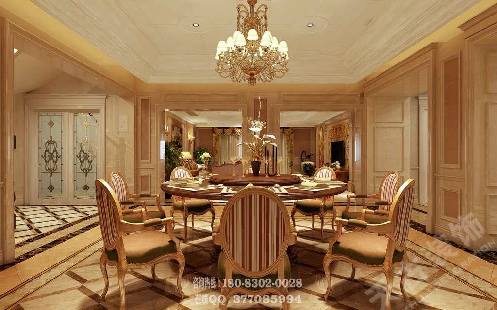融创尊爵堡装修设计丨重庆600平别墅装修欧式风格设计样板房