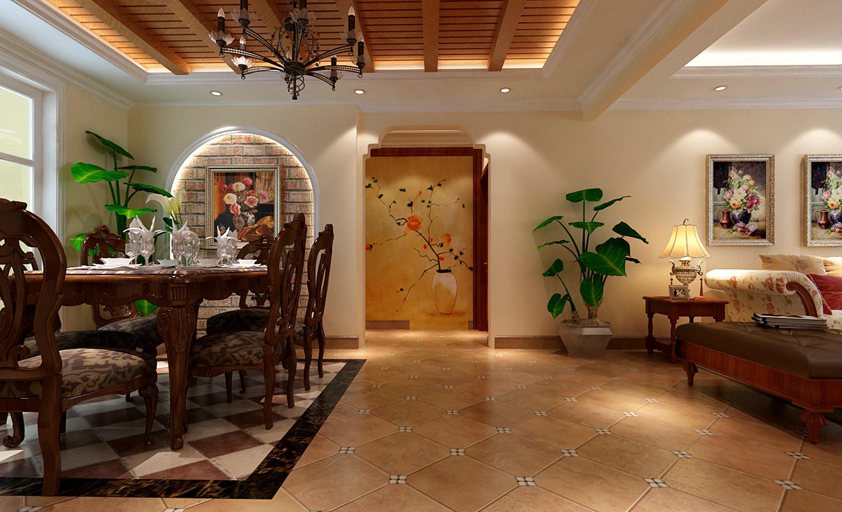 114平三居室美式乡村风格装修效果图-搜狐家居品格