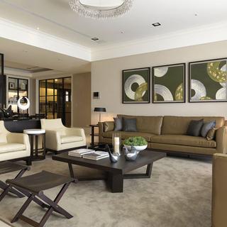 上海实创装饰-新中式风格三居室装修中国风的完美演绎