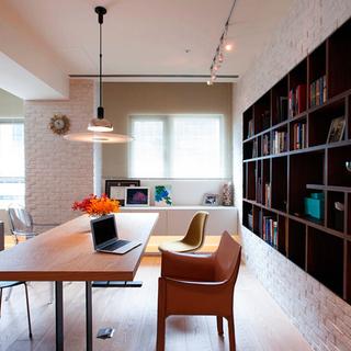 118平塑造纽约客时尚,一抹亮橘增艳空间活力