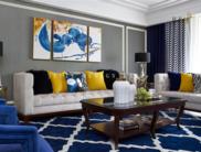 《靛蓝》现代美式公寓设计