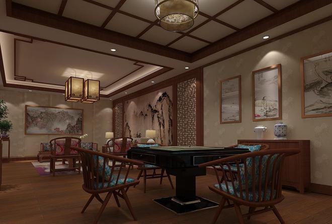 中式餐廳包廂效果圖