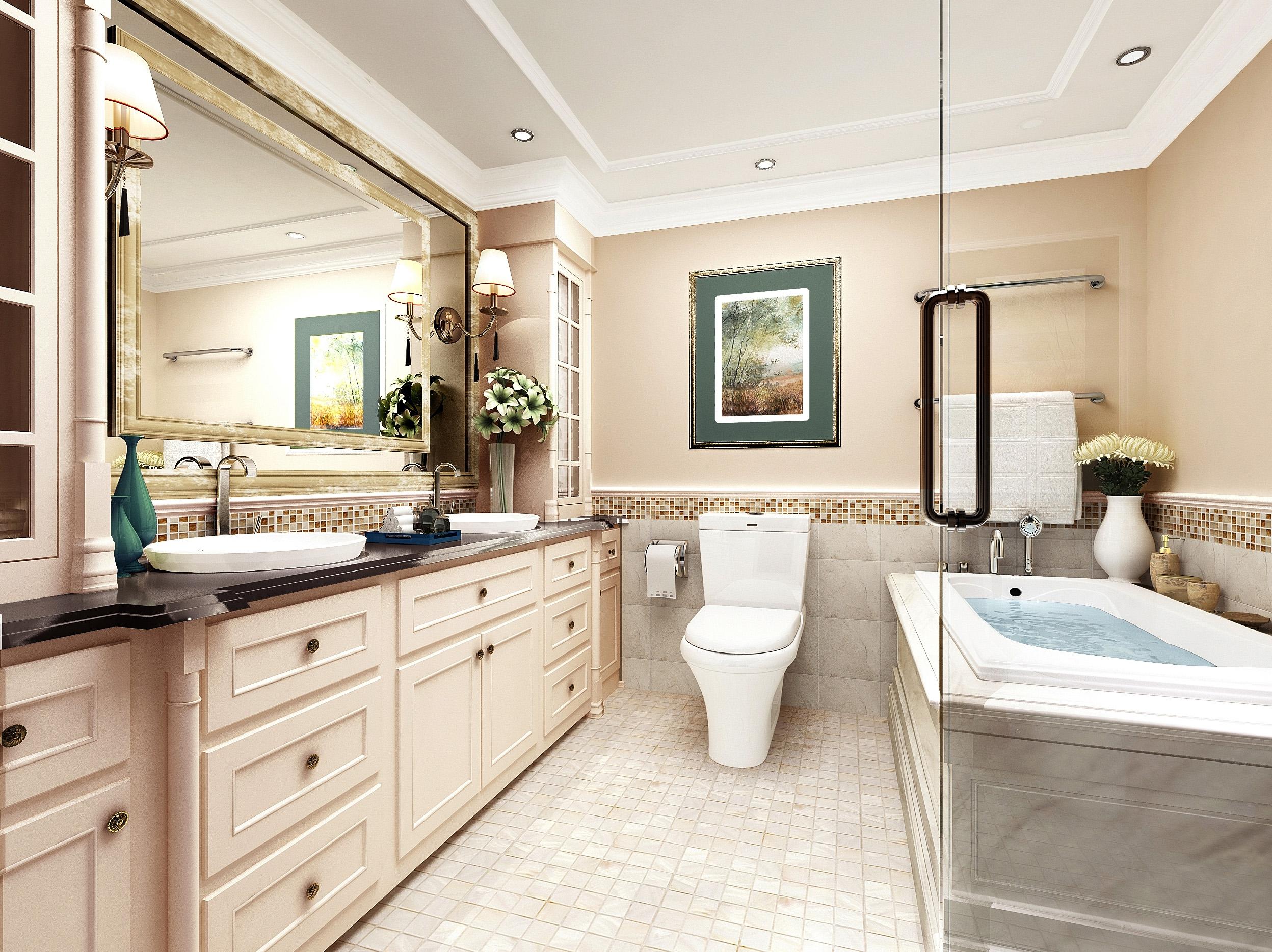 暖色系的现代美式三居室 古典与轻快的基调