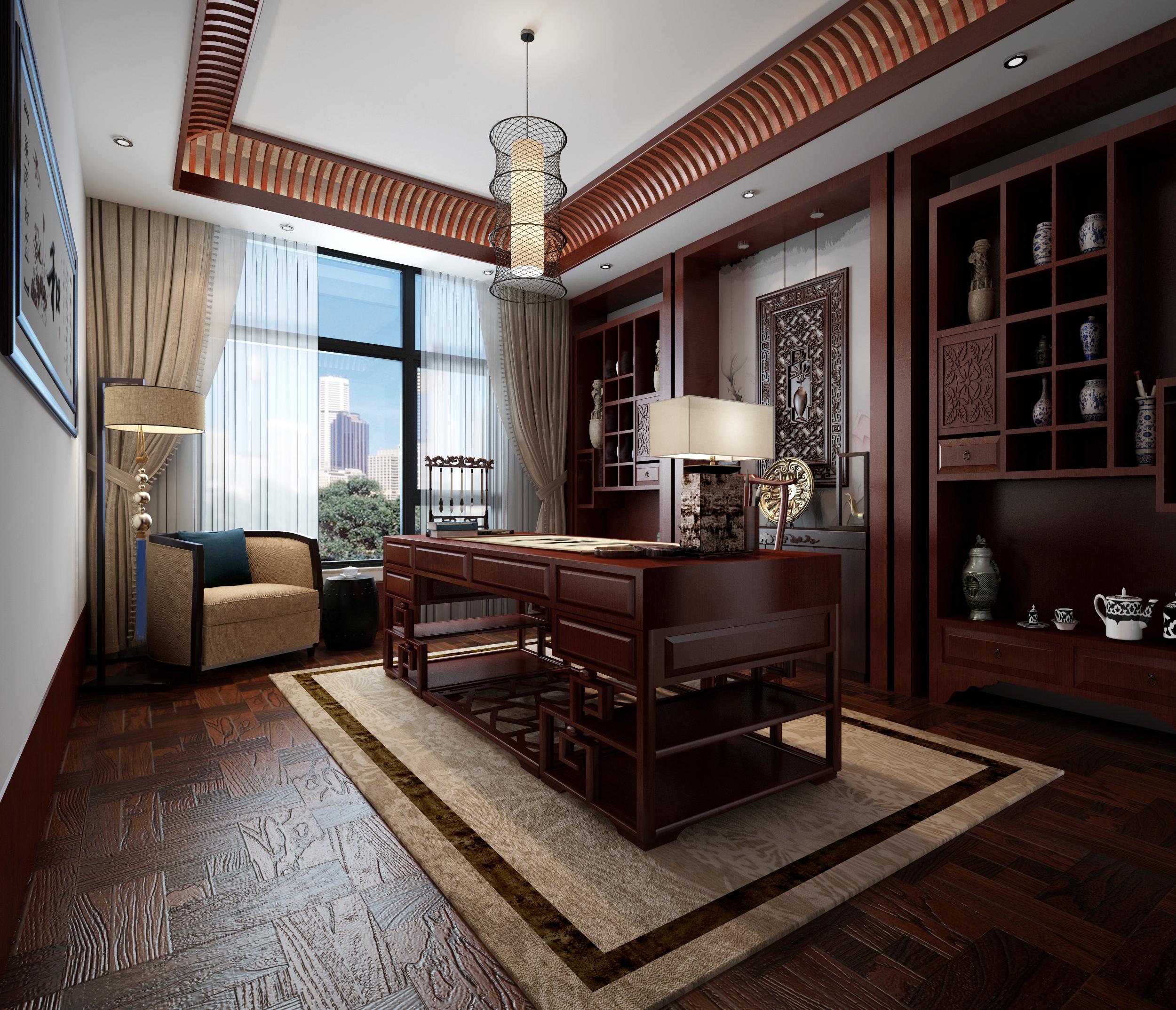 艾力枫社新中式风格别墅装修设计