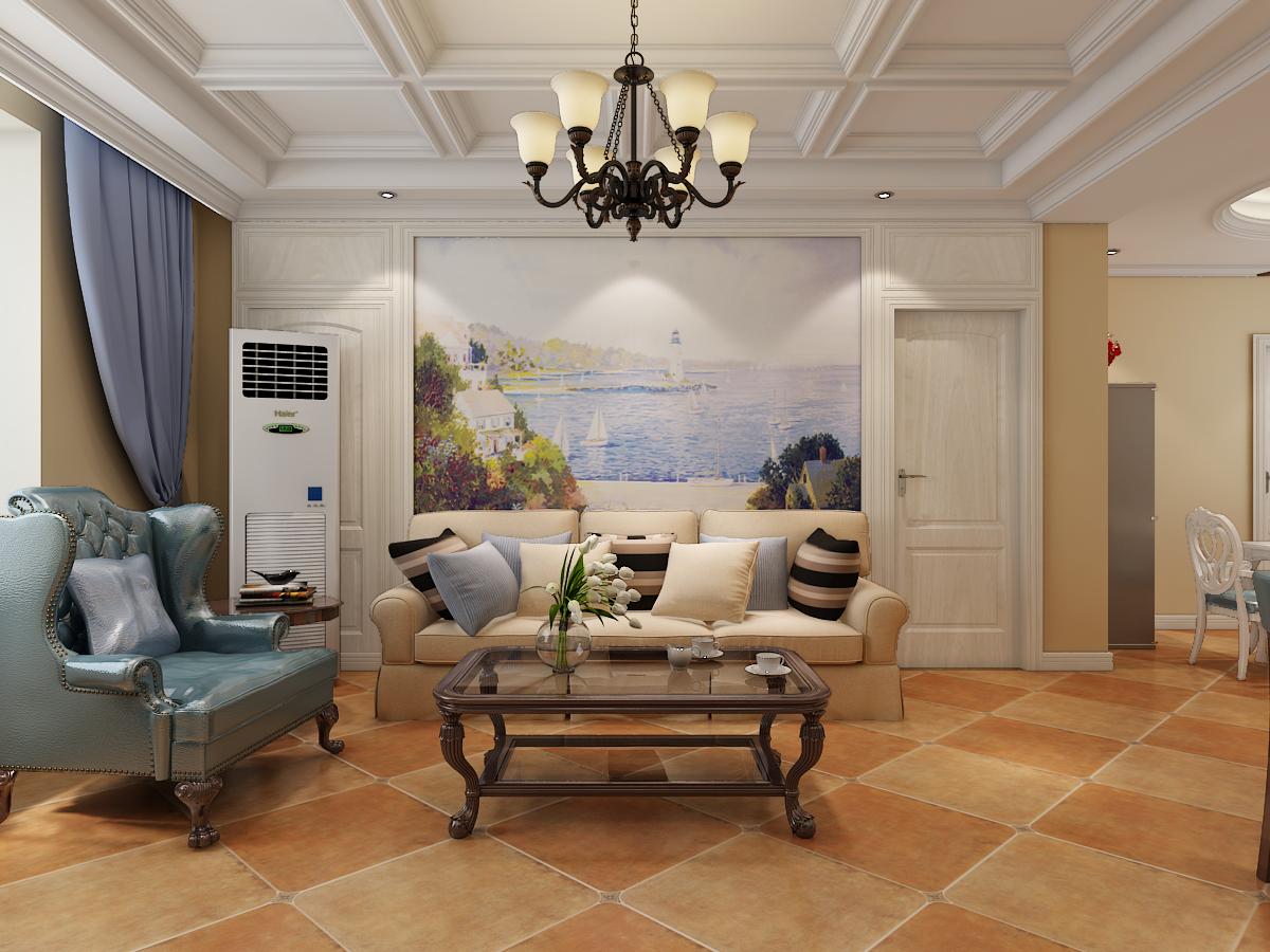 现代城两室两厅美式风格装修设计