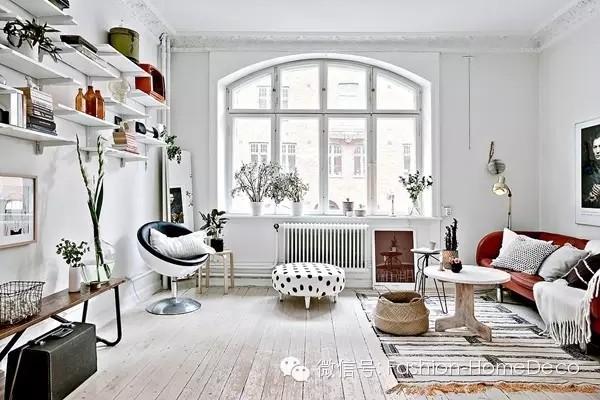 47平米黑白工业风小公寓
