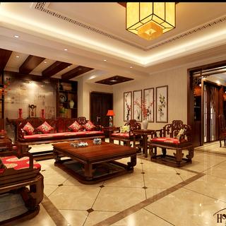 中式风格-4居室-无处不体现着主人的品味无处不体现着别致的中式方格。