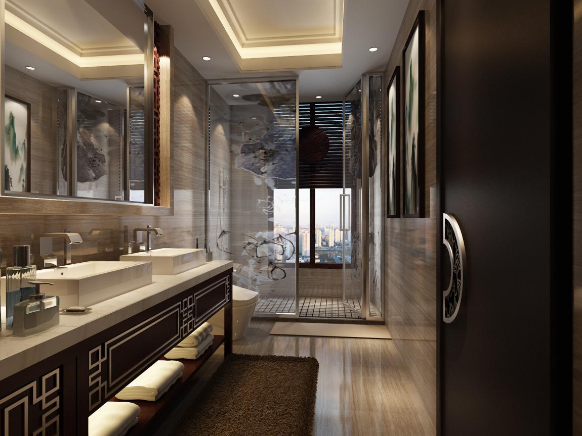 北京院子新中式风格别墅装修设计展示