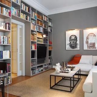 请造一个家庭图书馆!配得上这个美式3居